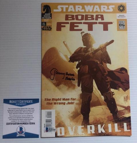 Jeremy Bulloch Signed Autographed Stars Wars Boba Fett Comic Overkill BECKETT