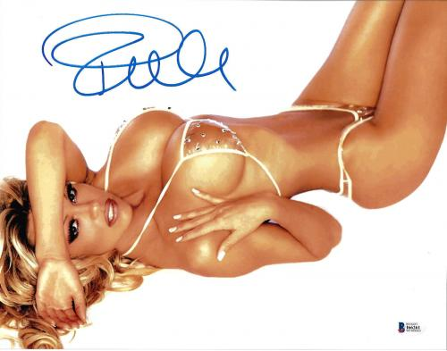 Pamela Anderson Signed 11x14 Photo - Pam Sexy Bikini Stones Beckett BAS