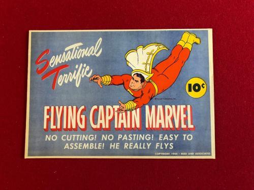 "1944, CAPTAIN MARVEL, ""Un-Used"" Glider Set (Rare) (DC Comics)"
