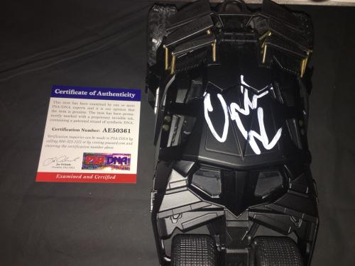 Christian Bale Signed Batmobile Car 1:24 The Dark Knight Trilogy Star PSA/DNA #3