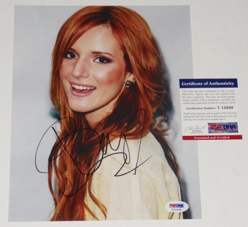 Bella Thorne Autographed Signed Memorabilia 8x10 Photo Model Actress Bas Beckett D86506