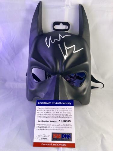 Christian Bale Hand Signed Autographed Batman Dark Knight Mask Psa Dna #4