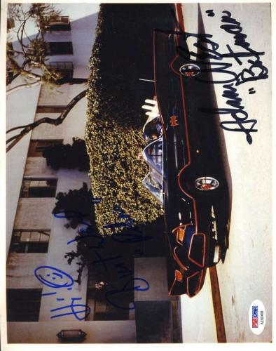 Burt Ward Adam West Psa Dna Coa Hand Signed Batman 8x10 Photo Autograph