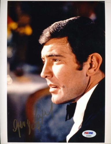 George Lazenby Psa Dna Hand Signed James Bond 8x10 Photo Autograph