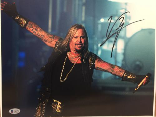 Vince Neil signed 11x14 photo Motley Crew Beckett witnessed Rock & Pop music p5