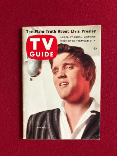 "1956, Elvis Presley, ""TV Guide"", (Scarce) (No Label) (1st Cover)"