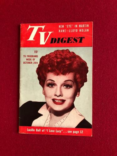 "1951, Lucille Ball ""TV DIGEST"" (No Label)  RARE  (I Love Lucy - 1st Season)"