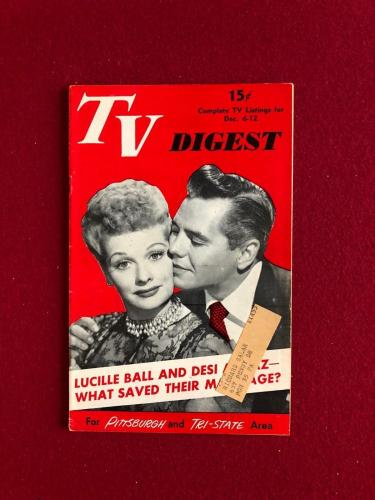 """1952, Lucille Ball """"TV DIGEST"""" (RARE)  (I Love Lucy)"""