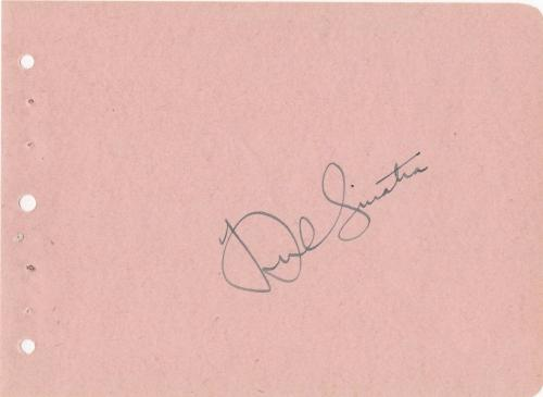Frank Sinatra Signed Sheet Jsa Certified Authentic Autograph Rare!