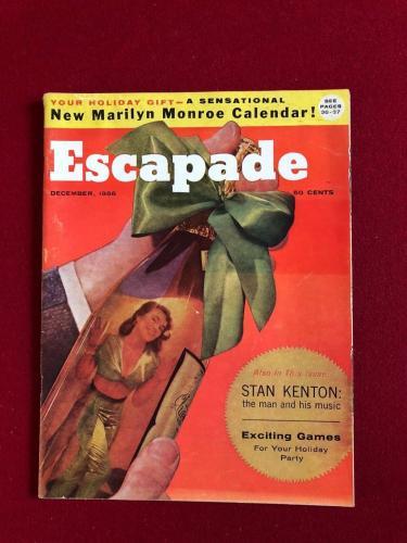 "1956, Marilyn Monroe, ""Escapade"" Magazine (No Label) Scarce (Playboy Calendar)"