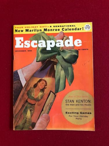 "1956, Marilyn Monroe, ""Escapade"" Magazine (No Label) Scarce (Playboy Calendar)"