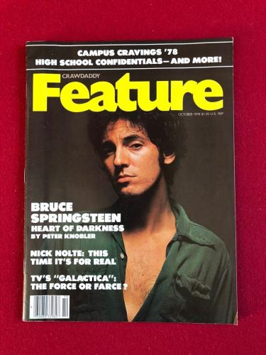 "1978, Bruce Springsteen, ""CRAWDADDY"" Magazine (No Label)"