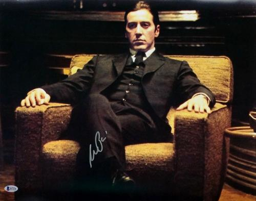 Al Pacino Signed The Godfather Michael Corleone 16x20 Photo Beckett BAS