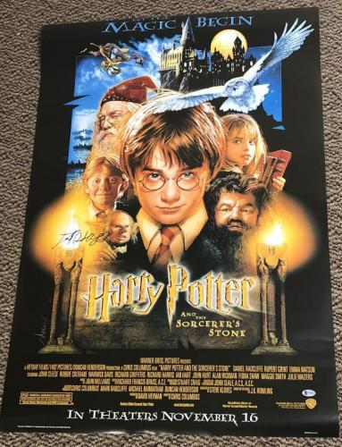 12061ad83a Last One · Daniel Radcliffe Signed Harry Potter And The Sorcerer s Stone  Full Size Poster.  1