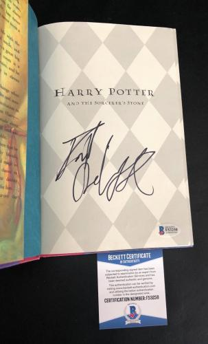 Harry Potter Daniel Radcliffe Signed Auto The Sorcerers Stone Book Beckett Bas 2