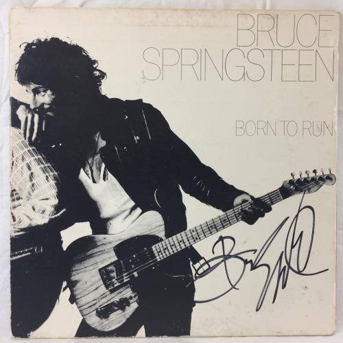 "Bruce Springsteen signed Born to Run 12"" LP Music Vinyl Album Jsa letter auto"