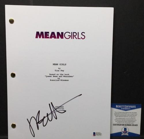 Jonathan Bennett Signed 'Mean Girls' Full Movie Script *Aaron