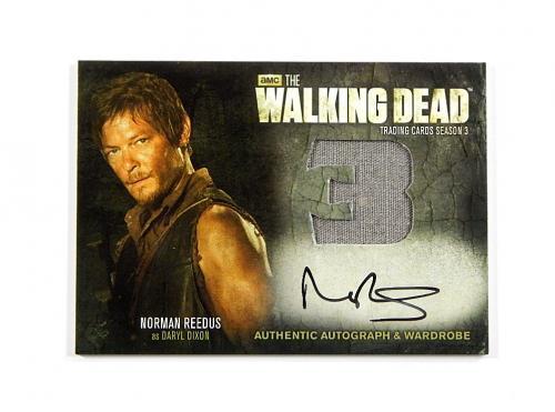 2014 The Walking Dead Autograph Wardrobe Norman Reedus #AM10 Auto Daryl Dixon