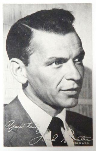 1940's Original Exhibit Frank Sinatra Yours truly Arcade Black & White Card