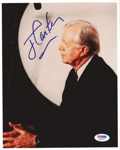 Jimmy Carter Autographed 8x10 Photo PSA/DNA #Q91347