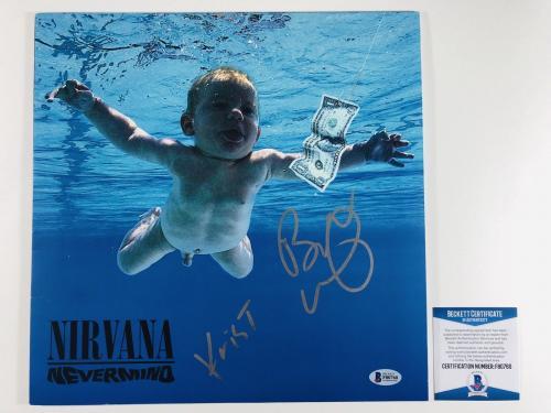Krist Novoselic & Butch Vig Signed Nirvana Nevermind Album Bas Coa #f80760