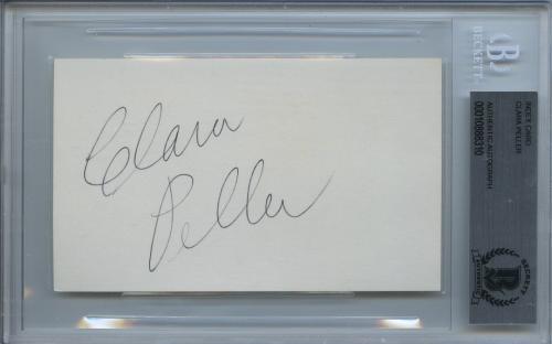 Clara Peller Signed 3x5 Card Encapsulated Bas Beckett Where's The Beef! Rare!