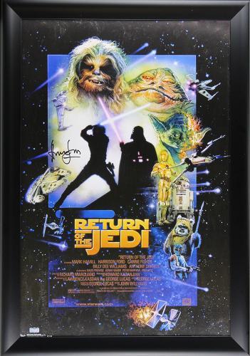 Harrison Ford Signed Star Wars Episode VI Return Of The Jedi Framed Movie Poster
