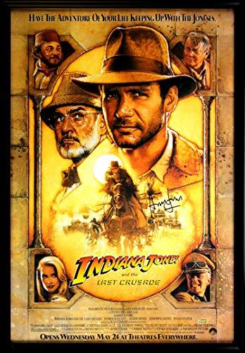 Harrison Ford Signed Indiana Jones The Last Crusade 27x40 Framed Movie Poster