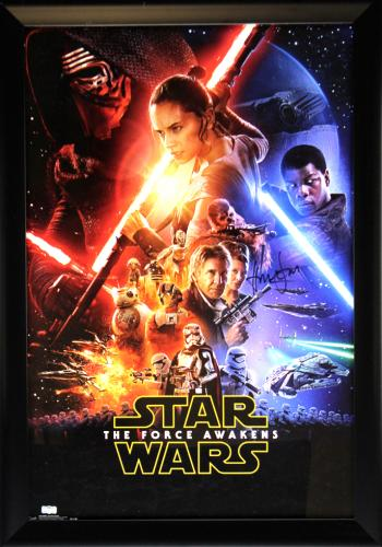 Harrison Ford Signed Star Wars The Force Awakens 22x34 Framed Movie Poster