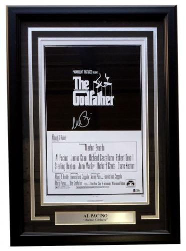 Al Pacino Signed Framed 11x17 The Godfather Movie Poster Photo BAS