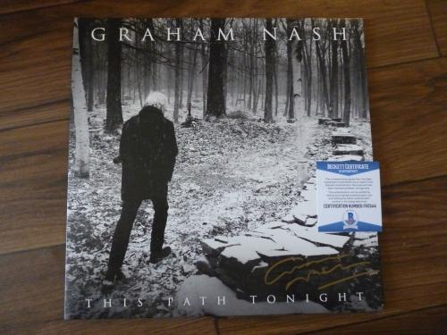 Graham Nash This Path Tonight Signed Autographed LP Record Beckett Certified
