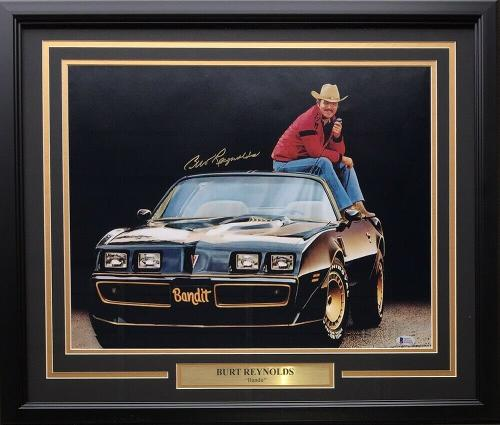 Burt Reynolds Signed Framed 16x20 Smokey And The Bandit Spotlight Photo BAS