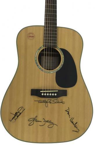 The Eagles  Signed Autographed Guitar Joe Walsh Glen Frey Henley PSA/DNA