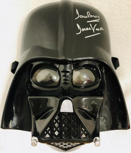Darth Vader Dave Prowse Signed Star Wars Movie Mask Helmet - Beckett BAS COA