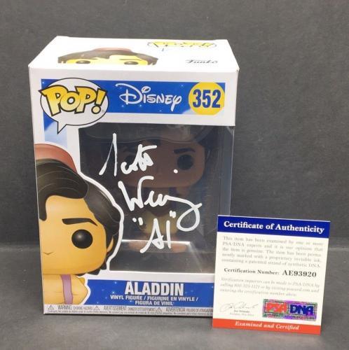 "Scott Weinger Signed Disney Aladdin Funko Pop #352 ""Al"" PSA AE93920"