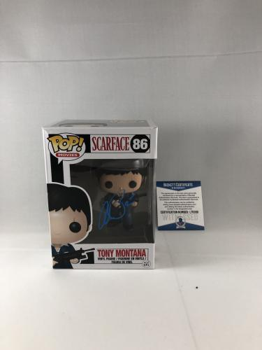 Al Pacino Signed Scarface Tony Montana Funko Pop Bas Beckett