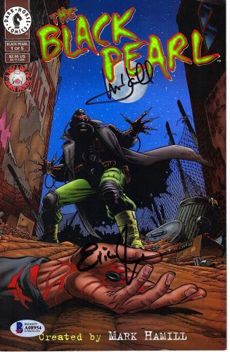 "MARK HAMILL & ERIC JOHNSON Signed ""Black Pearl"" Comic Book PSA/DNA # A08954"