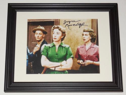 Joyce Randolph Autographed 8x10 Photo (framed & Matted) - The Honeymooners!