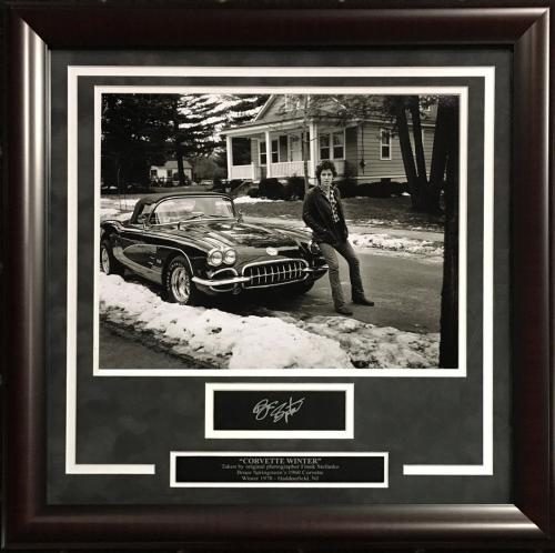 Bruce Springsteen facsimile signed 11x14 corvette photo plaque framed collage