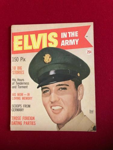 "1959, Elvis Presley, ""ELVIS IN The ARMY"" Magazine (Scarce / Vintage)"