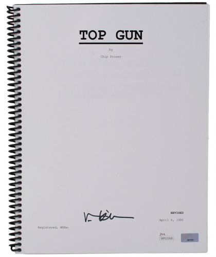Val Kilmer Signed Top Gun Full Movie Script JSA