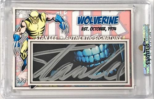 Stan Lee Signed CUSTOM Wolverine Cut Signature #d 1/1 Custom Card DG Slabbed