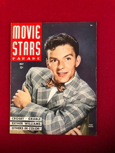 "1945, Frank Sinatra, ""MOVIE STARS PARADE"" Magazine (No Label) Scarce / Vintage"