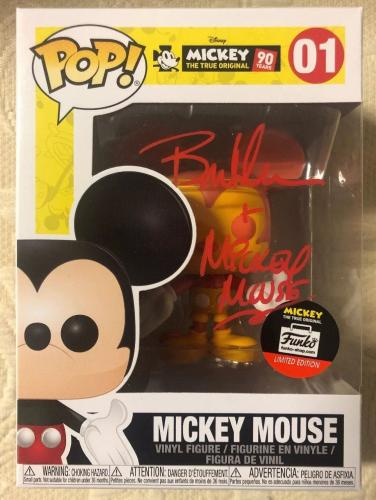 Bret Iwan Signed Autographed Mickey Mouse Funko Shop Pop Disney Orange JSA COA