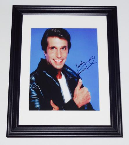 Henry Winkler Autographed 8x10 Color Photo (framed & Matted) - Happy Days!
