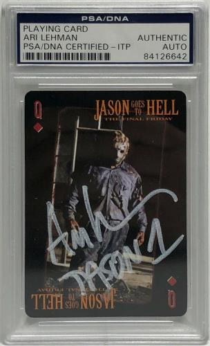 Ari Lehman Signed Friday The 13th Playing Card *Jason Voorhees PSA 84126642