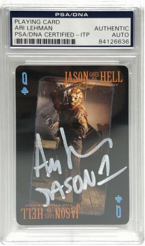Ari Lehman Signed Friday The 13th Playing Card *Jason Voorhees PSA 84126636