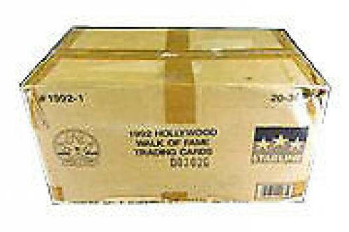 1991 Starline Hollywood Walk of Fame Trading Card Case (20 Boxes)