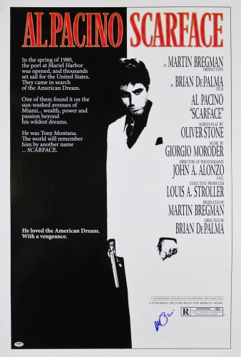 Al Pacino Scarface Signed 27x40 Poster (Slight Damage) PSA/DNA Itp #5A80173