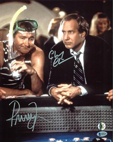 Chevy Chase & Randy Quaid Vegas Vacation Signed 11x14 Photo BAS Witnessed